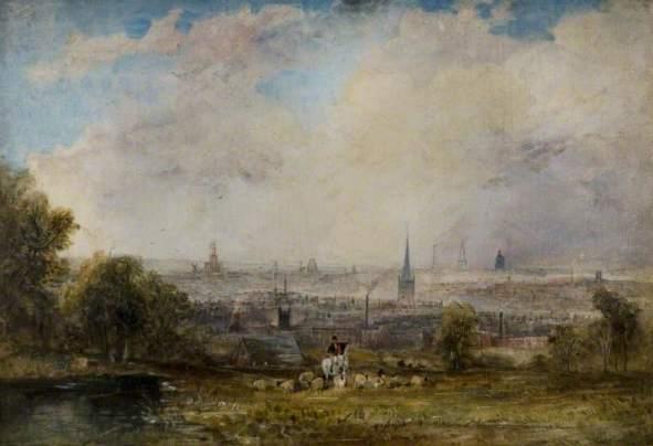 Creswick, Thomas, 1811-1869; A Distant View of Birmingham