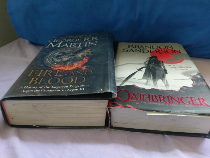 It's hard to properly convey but F&B is bigger in size than Oathbringer even though the latter is 500 pages longer.